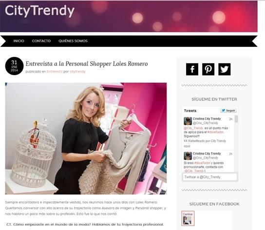 Entrevista en City Trendy